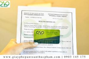 Mẫu Health Certificate xuất khẩu sản phẩm tại Việt Nam