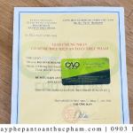 Giấy phép ATTP cho cơ sở sản xuất nui xin trong bao lâu?