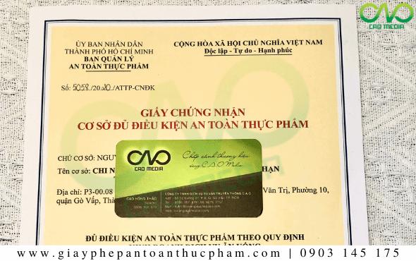 Trình tự xin giấy phép ATTP cơ sở sản xuất cháo yến ăn liền