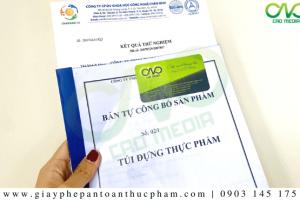 Công bố chất lượng túi tự hủy sinh họctheo Nghị định 15/2018