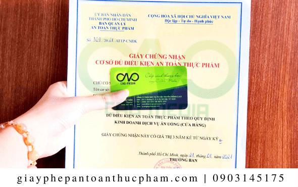 Xin giấy an toàn thực phẩm cho sản phẩm bột báng đơn giản nhất