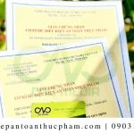 Xin giấy an toàn thực phẩm cho bột lá cẩm nhanh nhất