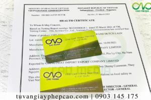 Gừng sấy dẻo xuất khẩu có cần xin health certificate không?