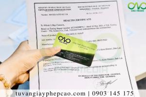 Giấy chứng nhận y tế sản phẩm bánh pizza(Health Certificate)