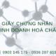 Thủ tục xin giấy chứng nhận đủ điều kiện kinh doanh hóa chất