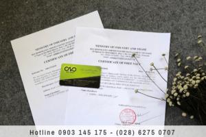 Mẫu giấy chứng nhận lưu hành tự do xuất khẩu sản phẩm