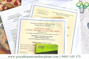 Dịch vụ xin giấy phép an toàn thực phẩm quán ăn quận 3
