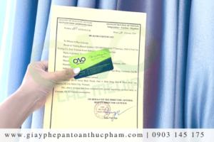 Điều kiện xin giấy chứng nhận health certificate bột làm bánh