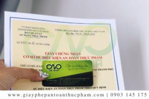 Dịch vụ làm giấy chứng nhận ATTP cơ sở sản xuất kẹo dẻo