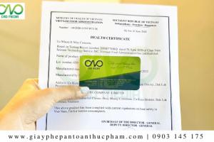 Hướng dẫn đăng ký giấy chứng nhận y tế thực phẩm chay
