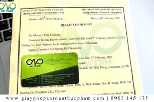 Health Certificate form như thế nào?