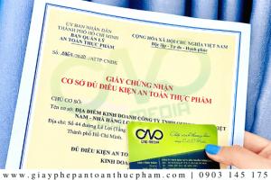 Xin giấy phép ATTP cho quán bánh canh tại TP. Hồ Chí Minh