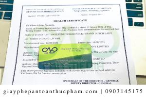 Làm cách nào để bột dứa xin giấy chứng nhận y tế