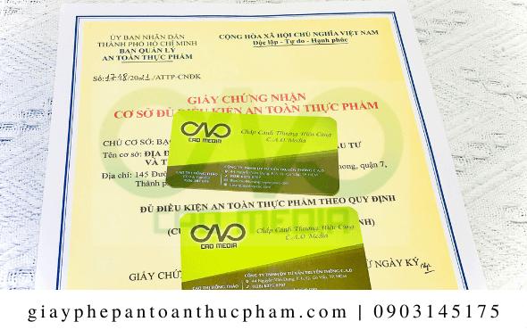 Thủ tục xin giấy an toàn thực phẩm cho bột dâu tây