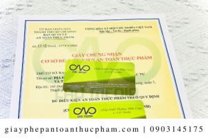 Xin giấy chứng nhận an toàn thực phẩm cho bột lá dứa